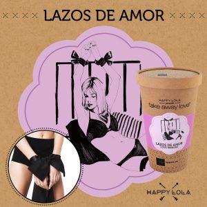 HAPPY LOLA LAZOS DE AMOR DE COLOR NEGRO