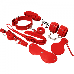EXPERIENCE BDSM FETISH KIT SERIE ROJO
