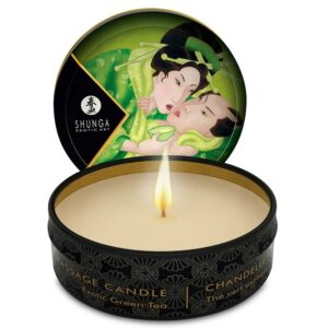 SHUNGA MINI CARESS BY CANDELIGHT VELA MASAJE TÉ VERDE 30ML